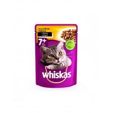 Whiskas С курицей в соусе для кошек старше 7+ фото