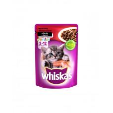 Whiskas Junior с говядиной в соусе фото