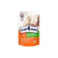 Клуб 4 лапи Premium для кошенят з куркою в соусі фото