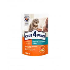 Клуб 4 лапи Premium для дорослих котів з макреллю в соусі фото