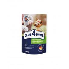 Клуб 4 лапи Premium для дорослих собак маленьких порід з куркою в желе фото