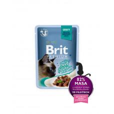 Brit Premium Cat pouch 85 g филе говядины в соусе фото