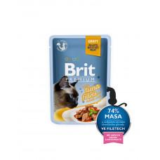 Brit Premium Cat pouch 85 g филе тунца в соусе фото