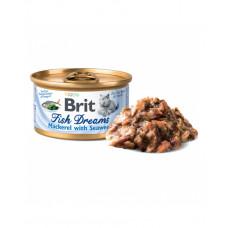 Brit Fish Dreams скумбрия и водоросли, 80 гр фото