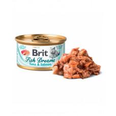 Brit Fish Dreams тунец и лосось, 80 гр фото