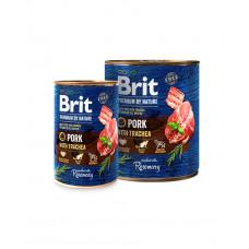 Brit Premium by Nature Pork & Trachea фото