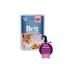 Brit Premium Cat pouch 85 g филе курицы в соусе д/котят фото
