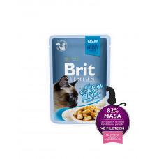 Brit Premium Cat pouch 85 g филе курицы в соусе фото