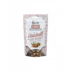 Brit Care Cat Snack Hairball Для виведення шерсті зі шлунка кішок з качкою фото