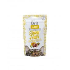 Brit Care Cat Snack Shiny Hair Для поддержания красоты шерсти кошек с лососем фото