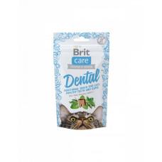 Brit Care Cat Snack Dental Для підтримки здоров'я зубів у кішок з індичкою фото