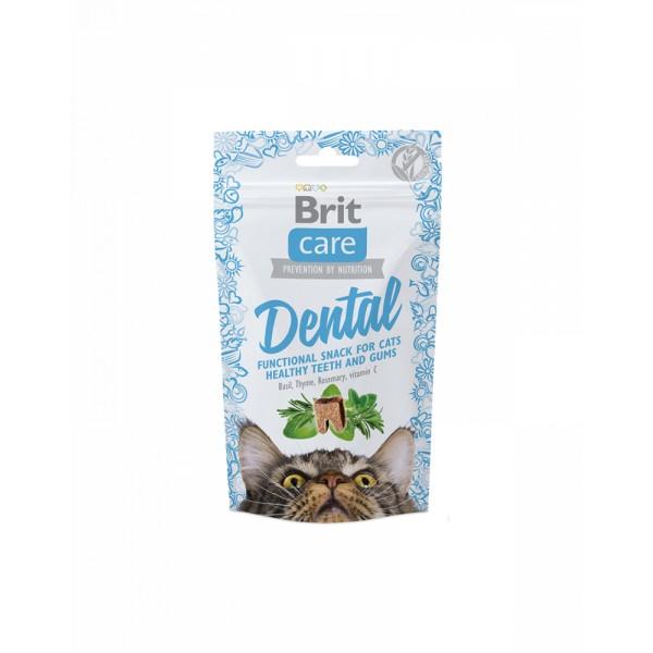 Brit Care Cat Snack Dental Для поддержания здоровья зубов у кошек с индейкой фото