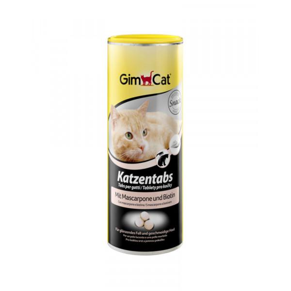 GimCat Katzentabs Вітамінізовані ласощі для кішок, з маскарпоне і біотином фото