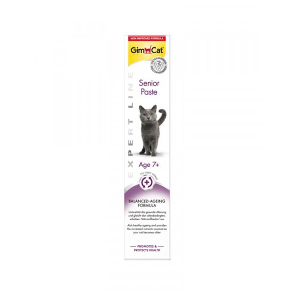 GimCat Паста Expert Line Senior вітамінізована паста для підтримки здоров'я кішок старше 7 років фото