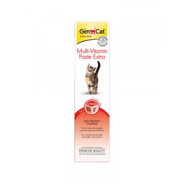 GimCat Паста Multi-Vitamin Paste Extra витаминизированная паста для кошек фото