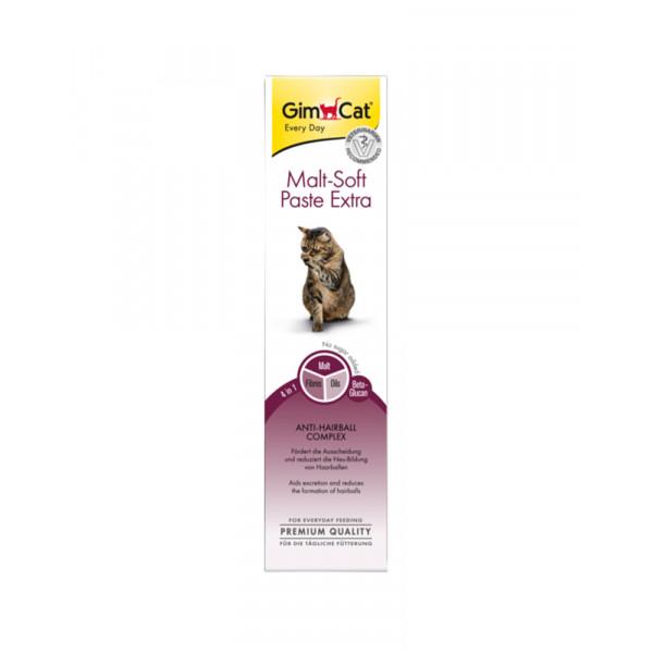 GimCat Паста Malt-Soft Extra вітамінізована паста для виведення шерсті зі шлунка кішок фото