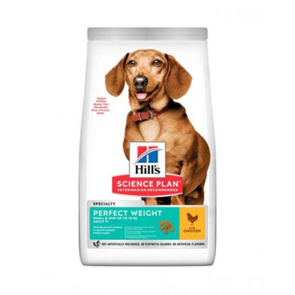 Hill's Science Plan Canine Adult Small & Miniature Perfect Weight корм для собак з куркою фото