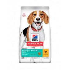 Hill's Science Plan Canine Adult Medium Breed Perfect Weight корм для собак з куркою фото