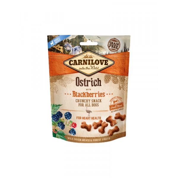 Carnilove Dog Crunchy Snack для собак з м'ясом страуса і ожиною фото