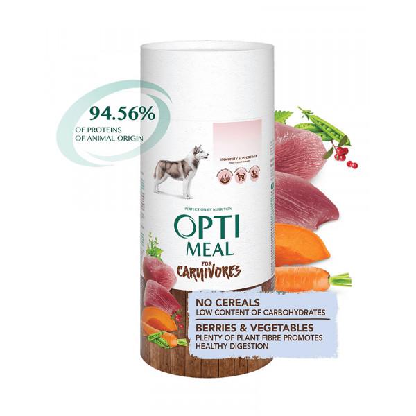 OptiMeal Беззерновой корм для взрослых собак всех пород - утка и овощи фото
