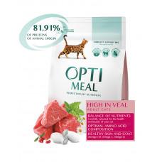 OptiMeal Для взрослых котов с высоким содержанием телятины фото