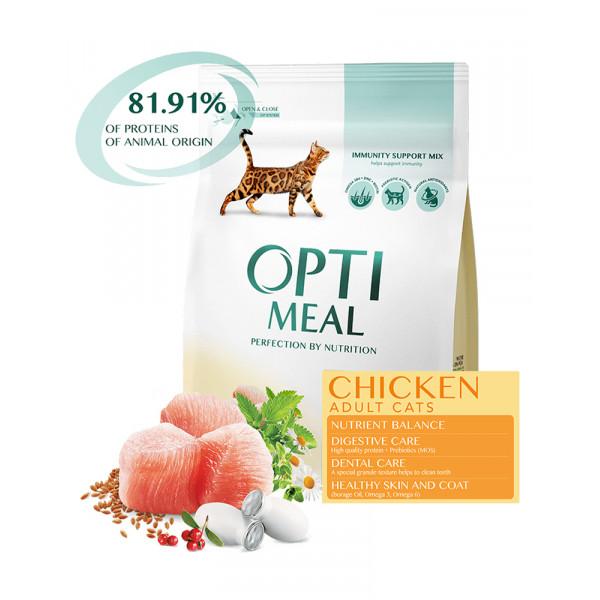 OptiMeal Для взрослых котов с курицей фото