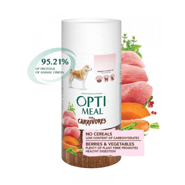 OptiMeal Беззерновой корм для взрослых собак всех пород - индейка и овощи фото