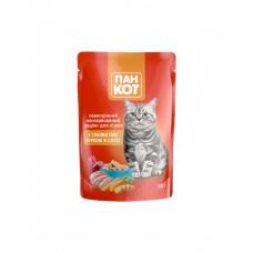 Пан Кот Для взрослых котов с курицей в соусе фото