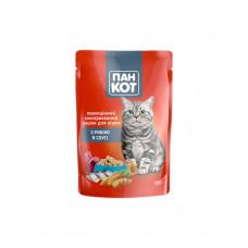Пан Кот Для взрослых котов с рыбой в соусе фото
