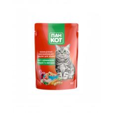 Пан Кот Рагу для взрослых котов с домашней птицей и овощами фото