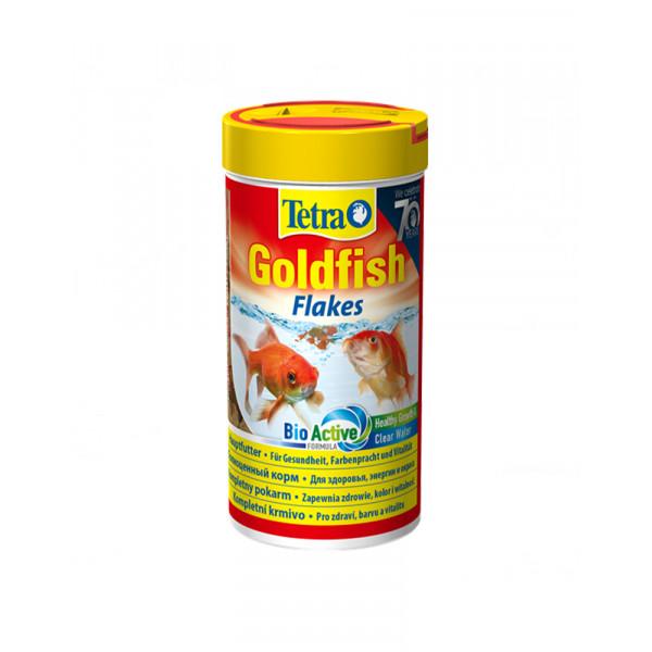 Tetra Goldfish в пластівцях фото