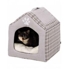 """Trixie Лежак-пещера """"Silas"""" серый/кремовый, для собак и кошек фото"""
