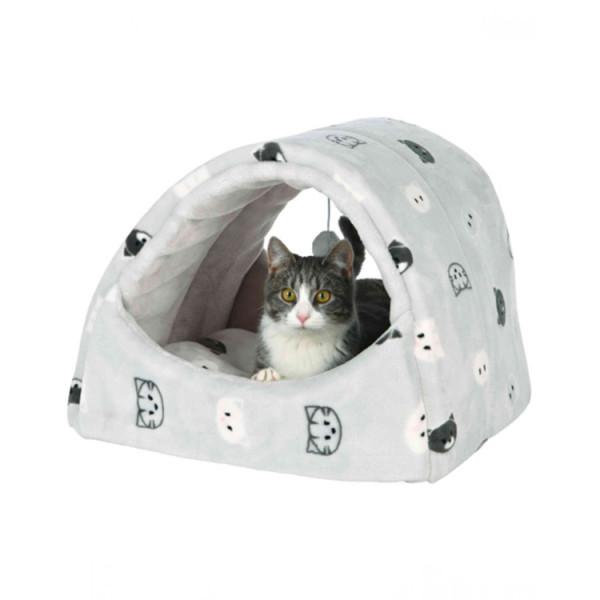 """Trixie Лежак-пещера """"Mimi"""" серый , для кошек фото"""