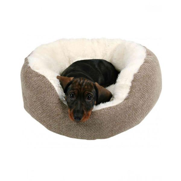 """Trixie Лежак """"Yuma"""" коричневый/белый, для собак и кошек фото"""