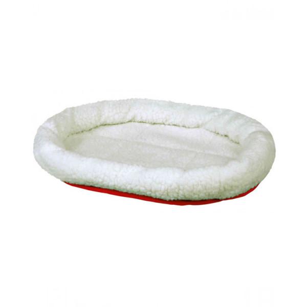 Trixie Лежак двосторонній білий/червоний, для собак і кішок фото