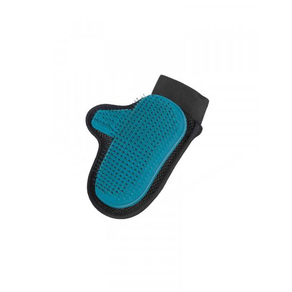 Trixie масажна рукавичка для вичісування шерсті і підшерстя фото