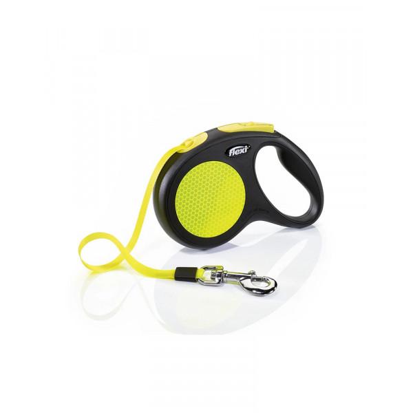 Flexi Neon М рулетка-повідець до 25 кг/5 метра (стрічка) фото