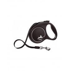 Flexi Black Design L рулетка-повідець до 50 кг / 5 метра (стрічка) фото