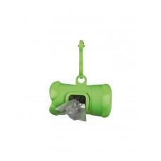 Контейнер пластиковый для уборочных пакетов + пакеты 1 упаковка( 15 шт) фото