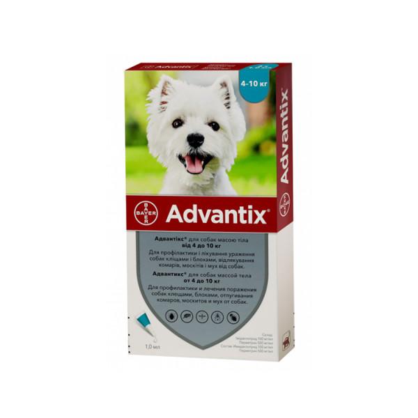 Bayer Advantix для собак вагою 4-10 кг. фото