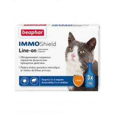 Beaphar Капли Immo Shield Line-on for Cats антипаразитные с диметиконом для котов и котят фото