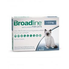 Broadline Спот-он капли против паразитов для кошек S (до 2.5 кг) фото