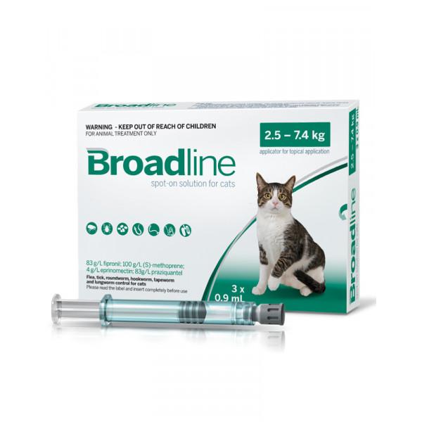 Broadline Краплі на холку для кішок вагою від 2,5 до 7,5 кг фото