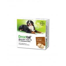 Drontal Plus XL антигельмінтик зі смаком м'яса, Одна таблетка на вагу 35 кг фото