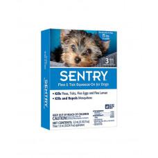 SENTRY (Сентрі) краплі від бліх, кліщів і комарів для собак вагою до 7 кг фото