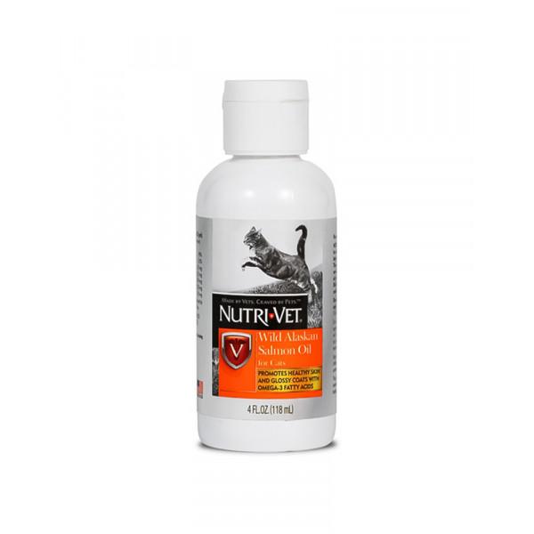 Nutri-Vet Wild Alaskan Salmon Oil для котов фото