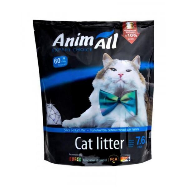 """AnimAll Силікагелевий наповнювач """"Блакитний Аквамарин"""" для котів фото"""