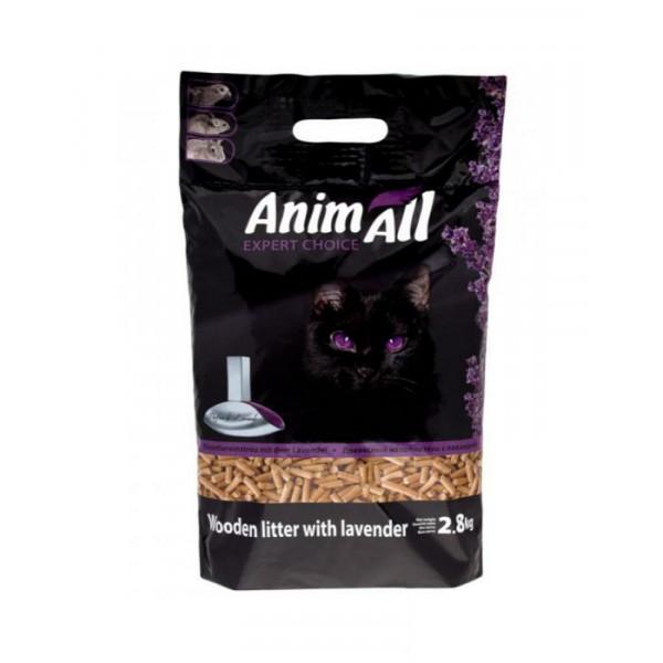AnimAll Древесный наполнитель для котов, с ароматом лаванды фото