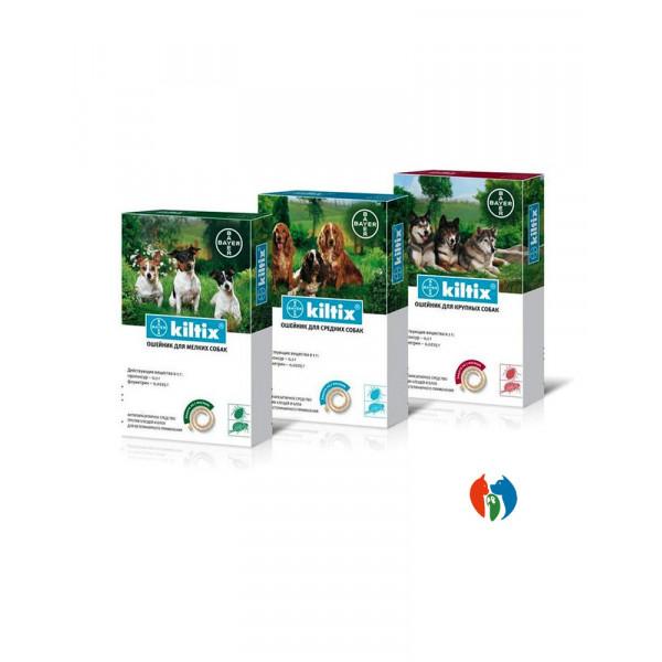 Bayer Kiltix ошейник для собак от блох и клещей фото